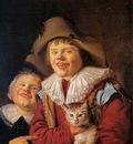 Molenaer Jan Miense Children with cat Sun