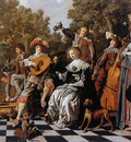Molenaer Jan Miense Merry company on terrace Sun