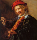 Molenaer Jan Miense Violin player Sun