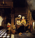 Molijn Petrus Pauvres dans un presbytre Sun