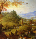 Momper Joos De and Brueghel Jan the Younger 1564 to 1635 and 1601 to 1678 A Rocky Landscape With
