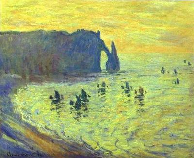 Claude Monet Cliffs at Etretat