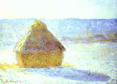 Claude Monet Haystack, Snow Effects, Morning
