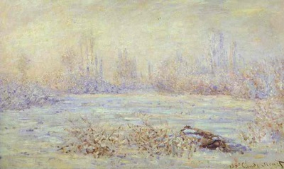 Claude Monet Hoarfrost, near Vetheuil