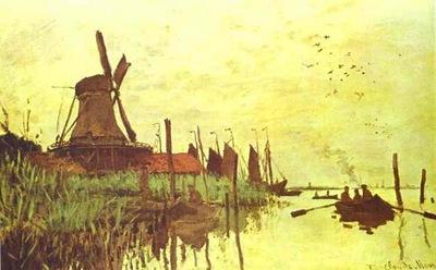 Claude Monet Mill near Zaandam