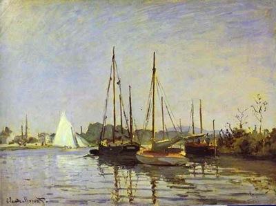 Claude Monet Pleasure Boat, Argenteuil