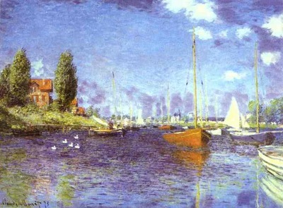 Claude Monet Red Boats  Argenteuil