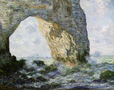 claude monet rock arch west of etretat the manneport