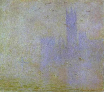 Claude Monet Seagulls The Thames  Houses of Parliament