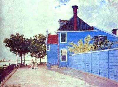 Claude Monet The Blue House in Zaandam