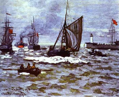 Claude Monet The Entrance to the Port of Honfleur