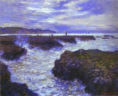 Claude Monet The Rocks near Pourville at Ebb Tide