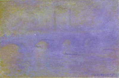 Claude Monet The Waterloo Bridge  The Fog