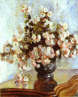Claude Monet Vase with Flowers
