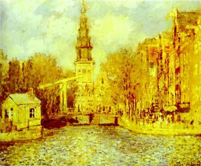 Claude Monet Zuiderkerk in Amsterdam