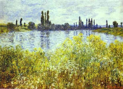 Monet Bank of the Seine  Vetheuil