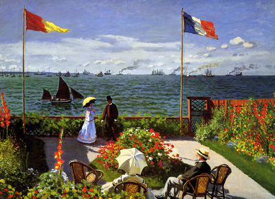 monet claude garden at sainte adresse sun