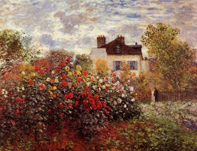 Monet Claude Monets garden in Argenteuil Sun