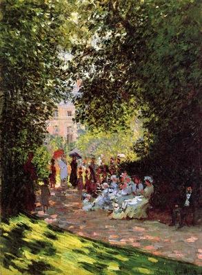 Monet Claude Park Monceau Sun