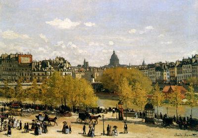 Monet Claude Quai de Louvre Sun