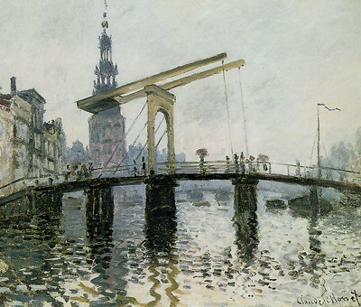 Monet Claude Rapenburgwal with Montelbaanstoren Sun