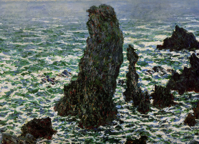 Monet Claude Rocks at Belle ile Sun