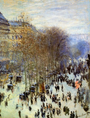 Monet Claude The Boulevard des Capucines Sun