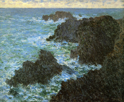 Monet Claude The rocks of Belle LLe Sun