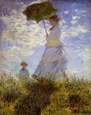 Monet Claude The woman with the parasol Sun