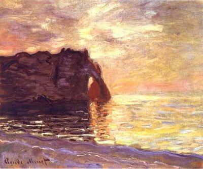 Monet Etretat  The End of the Day