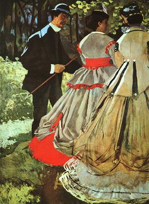 monet le dejeuner sur lherbe the picnic , detail,