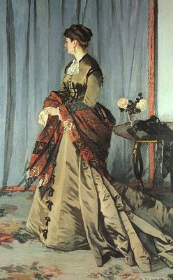 Monet Madame Gaudibert, 1868, oil on canvas, Musee dOrsay,