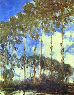 Monet Poplars on the Bank of the River Epte