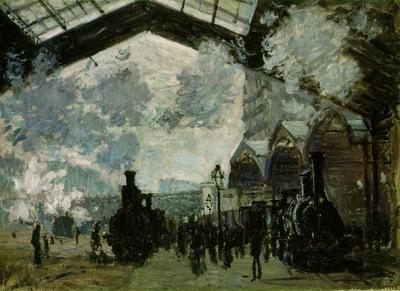 Monet Saint Lazare Station, 1877, 54 3x73 6 cm, NG London