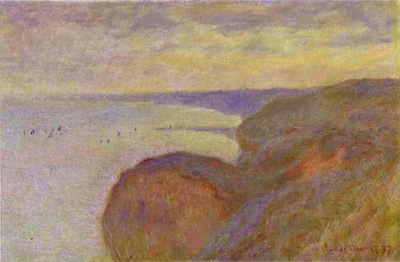 Monet Steep Banks near Dieppe