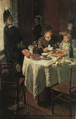 Monet The Luncheon, 1868, oil on canvas, Stadelsches Kunstin