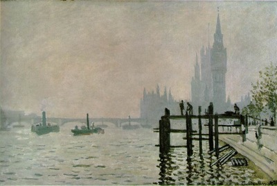 Monet The Thames at Westminster, 1871, 47x72 5 cm, NG London