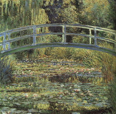 Monet The Waterlily Pond, 1899, The National Gallery, London