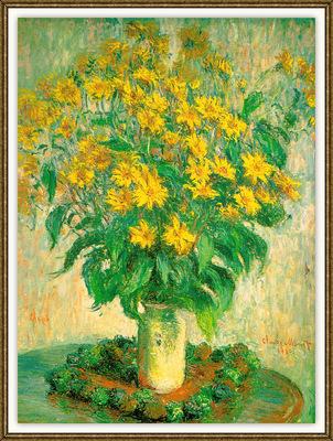 Monet VaseWithChrysanthemums sj