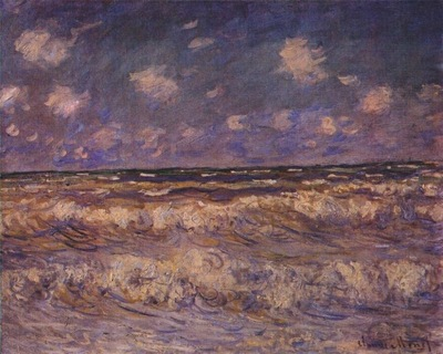 monet rough sea