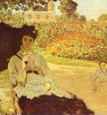 Claude Monet Camille Monet in the Garden