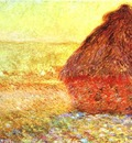 Claude Monet Haystack at the Sunset near Giverny