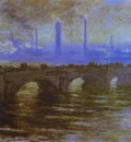 Claude Monet London  The Waterloo Bridge