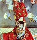 Claude Monet Madame Monet in Japanese Costume La Japonaise