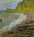 Claude Monet The Beach at Etretat