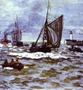 Claude Monet The Entrance to the Port of Honfleur