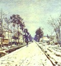 Claude Monet The Road to Louveciennes, the Effect of Snow