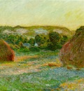 claude monet wheatstacks end of summer 1890