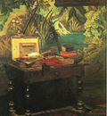 Monet A Corner of the Studio, 1861, oil on canvas, Musee dO