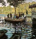 Monet Claude La Grenouillere the frog pond Sun